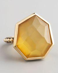 Stephen Dweck - Metallic Yellow Agate Quartz Ring - Lyst