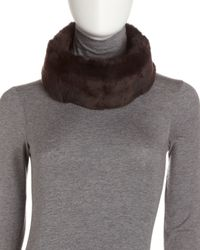 Surell | Brown Rabbit Fur Headband | Lyst