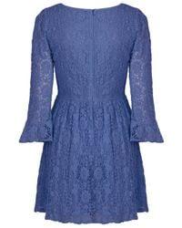 TOPSHOP | Blue Crochet Lace Flippy Dress | Lyst