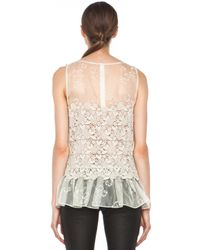 Valentino | Beige Four Leaf Clover Lace Top  | Lyst