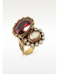 Alcozer & J | White Cameo Brass Ring | Lyst
