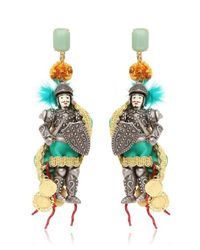 Dolce & Gabbana | Multicolor Pupo Siciliano Clip On Earrings | Lyst