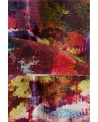Erdem - Pink Anneli Printed Silk Dress - Lyst