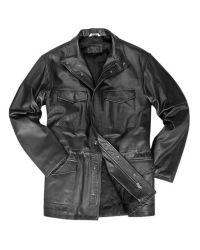 FORZIERI - Men's Black Italian Four-pocket Leather Jacket for Men - Lyst