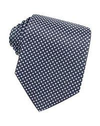 FORZIERI - Blue Checks Extra-long Basketweave Silk Tie for Men - Lyst