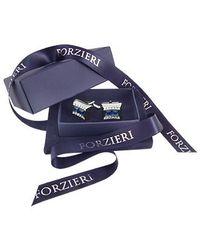 FORZIERI - Blue Square Stone Cufflinks for Men - Lyst