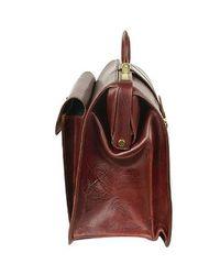 FORZIERI - Dark Brown Italian Leather Buckled Medium Doctor Bag for Men - Lyst