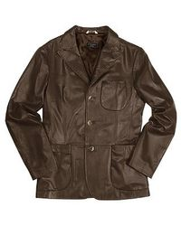 FORZIERI - Men's Brown Italian Genuine Leather Blazer for Men - Lyst