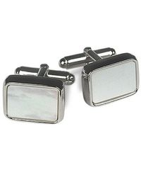 FORZIERI | Metallic Evergreen - Elegant Silver Plated Cuff Links for Men | Lyst