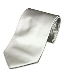 FORZIERI | Gray Solid Light Grey Extra-long Tie for Men | Lyst