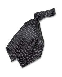 FORZIERI - Black Polkadot Silk Ascot for Men - Lyst