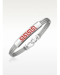 FORZIERI | Metallic Di Fulco - Stainless Steel Bracelet With Plaque for Men | Lyst