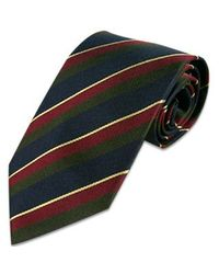FORZIERI - Metallic Regimental Silk Tie for Men - Lyst