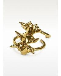 Giuseppe Zanotti - Metallic Animal Bones Golden Cuff Bracelet - Lyst
