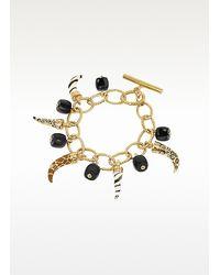 Just Cavalli - Metallic Amuleto Lucky Charms Toggle Bracelet - Lyst