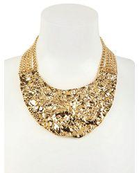 MICHAEL Michael Kors - Metallic Gold Plated Rock Necklace - Lyst