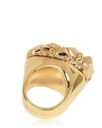 MICHAEL Michael Kors | Metallic Gold Plated Rock Ring | Lyst