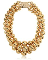 MICHAEL Michael Kors | Metallic Modern Classic Gold Plated Bead Necklace | Lyst