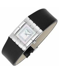 Raymond Weil - Black Tema Ladies Diamond River Leather Band Watch - Lyst