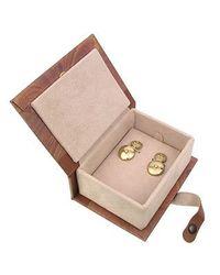 Torrini | 18k Yellow Gold Diamond Cufflinks for Men | Lyst