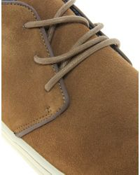 River Island - Brown Suede Piped Desert Boots for Men - Lyst