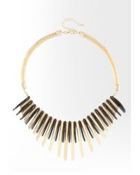 Bebe | Metallic Metal Geometric Statement Necklace Web Exclusive | Lyst