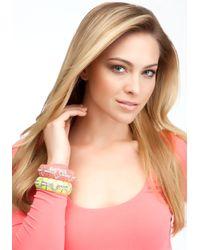 Bebe - Pink Enamel Crystal Stretch Bracelet Set - Lyst
