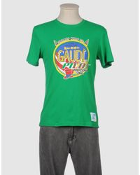 GAUDI | Green Short Sleeve T-shirt for Men | Lyst