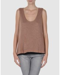 Cacharel | Brown Top | Lyst