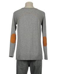 Taviani - Gray V-neck for Men - Lyst
