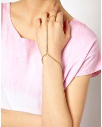 ASOS | Metallic Rope Chain Hand Harness | Lyst