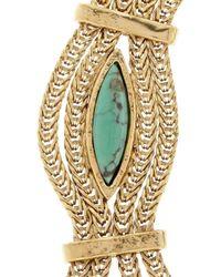 Aurelie Bidermann | Metallic Sunset Goldplated Turquoise Necklace | Lyst