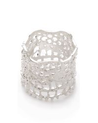 Aurelie Bidermann - Metallic Vintage Lace Laser Cut Ring - Lyst
