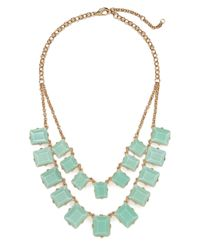 BaubleBar - Green Double Chiclet Strand - Lyst