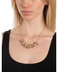 BaubleBar | Metallic Rose Disco Knot Necklace | Lyst