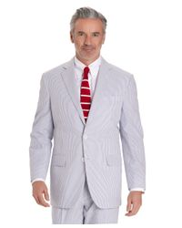 Brooks Brothers White Seersucker Madison Fit Suit for men
