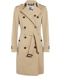 Burberry | Natural Cotton-Twill Trench Coat | Lyst
