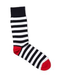 Corgi - Blue Striped Cottonblend Socks for Men - Lyst