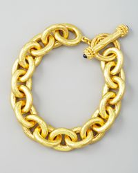 Elizabeth Locke | Metallic Heavy Oval Link 19k Gold Bracelet | Lyst