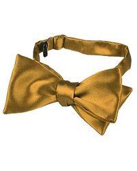 FORZIERI | Ocher Yellow Solid Silk Self-tie Bowtie for Men | Lyst