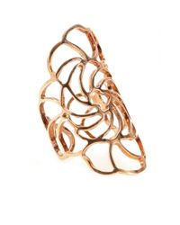 Ileana Makri | Metallic 18kt Rose Gold Lace Ring | Lyst