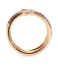 Ileana Makri - Pink 18kt Rose Gold Single Python Ring with Rubies and Champagne Diamonds - Lyst
