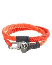 J.Crew - Orange Caputo Co Chevron Wrap Bracelet for Men - Lyst
