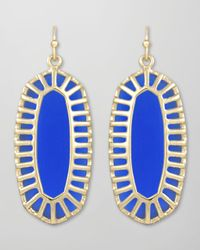 Kendra Scott | Blue Dayla Small Drop Earrings Cobalt | Lyst