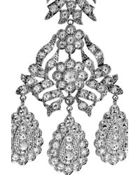 Kenneth Jay Lane - Metallic Girondelle Crystal Chandelier Clip Earrings - Lyst