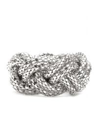 Lara Bohinc | Metallic Large Plait Bangle | Lyst