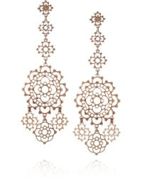 Laurent Gandini | Metallic Torcello 9karat Rose Gold Earrings | Lyst