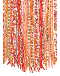 Mango - Pink Beads Cascading Necklace - Lyst