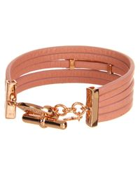 Marc By Marc Jacobs - Pink Multi Leather Toggle Bracelet - Lyst