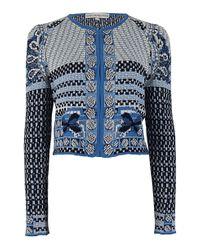 Mary Katrantzou - Blue Luxeknit Tiktok Jacket - Lyst